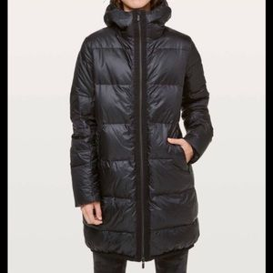 Lululemon Cloudscape long down jacket